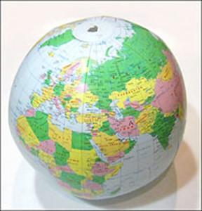 Light Blue Political - Inflatable Globe (30cm)