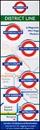 London Underground Mini Magnetic Bookmarks - District Line