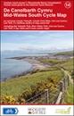 Mid-Wales South 110K Sustrans Cycle Map No. 14