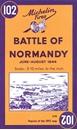 Battle of Normandy Michelin Map