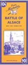 Battle of Alsace Michelin Map