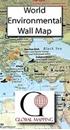 Environmental World Global Mapping Wall Map PAPER