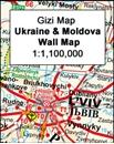 Ukraine - Moldova Wall Map