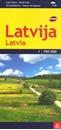 Latvia 700K Jana Seta Map