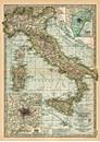 Italy Map (circa 1870) Wrap