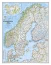Scandinavia NGS Classic Wall Map LAMINATED
