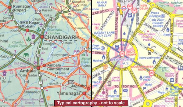 India: ITMB Regional Road Maps