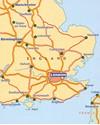 South East England - Midlands - East Anglia Michelin Regional 504