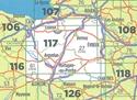 Caen - Evreux - PNR Normandie - Maine IGN Top100 Map 117