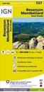 Besançon - Montbéliard - Jura Mountains IGN Top100 Map 137