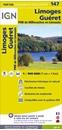 Limoges - Guéret - PNR de Millevanches en Limousin IGN Top100 Map 147