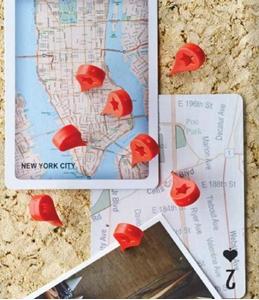 Map Marker Pushpins Set of Eight