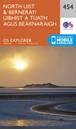 North Uist & Berneray OS Explorer Map 454 (paper)