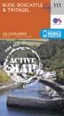 Bude, Boscastle & Tintagel OS Explorer Active Map 111 (waterproof)