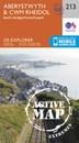 Aberystwyth & Cwm Rheidol - Devil's Bridge OS Explorer Active Map 213 (waterproof)