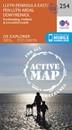 Lleyn Peninsula East - Porthmadog, Criccieth & Pwllheli OS Explorer Active Map 254 (waterproof)