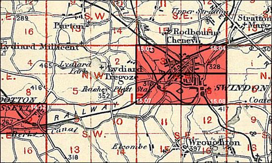Old Ordnance Survey Map Swindon SW Wiltshire 1899 Sheet 15.07  New