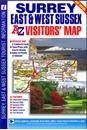 Surrey, East & West Sussex A-Z Visitors' Map