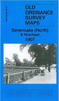 OLD ORDNANCE SURVEY MAP SEVENOAKS SOUTH 1907 LONDON ROAD HIGH STREET BULIMBA