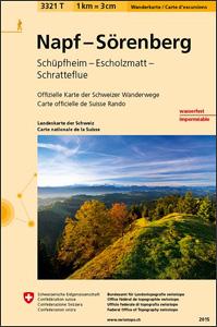 Napf – Sorenberg - Schupfheim - Escholzmatt - Schratteflue Swisstopo Hiking 3321T
