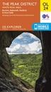 Peak District White Peak - Buxton, Bakewell, Matlock & Dove Dale OS Explorer Map OL24 (paper)