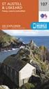 St Austell & Liskeard - Fowey, Looe & Lostwithiel OS Explorer Map 107 (paper)