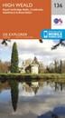 High Weald - Royal Tunbridge Wells, Cranbrook, Hawkhurst & Bewl Water OS Explorer Map 136 (paper)