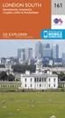 London South: Westminster, Greenwich, Croydon, Esher & Twickenham OS Explorer Map 161 (paper)