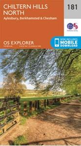 Chiltern Hills North: Aylesbury, Berkhamsted & Chesham OS Explorer Map 181 (paper)