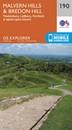 Malvern Hills & Bredon Hill - Tewkesbury, Ledbury, Pershore & Upton upon Severn OS Explorer Map 190 (paper)