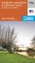 Sudbury, Hadleigh & Dedham Vale - Lavenham & Long Melford OS Explorer Map 196 (paper)