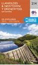 Llanidloes & Newtown - Llyn Clywedog OS Explorer Map 214 (paper)