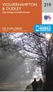 Wolverhampton & Dudley - Stourbridge & Kidderminster OS Explorer Map 219 (paper)