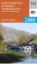 Northampton & Market Harborough - Brixworth & Pitsford Water OS Explorer Map 223 (paper)