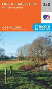 Diss & Harleston - East Harling & Stanton OS Explorer Map 230 (paper)