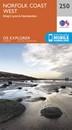 Norfolk Coast West - King's Lynn & Hunstanton OS Explorer Map 250 (paper)
