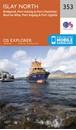 Islay North: Port Askaig, Bridgend & Port Charlotte OS Explorer Map 353 (paper)