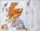 United Kingdom North Bedrock Geology BGS Wall Map