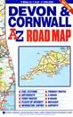 Devon & Cornwall A-Z Road Map