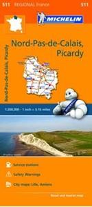 Nord-Pas-de-Calais - Picardy Michelin Regional 511
