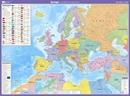 Europe OS Lambert Projection Wall Map LAMINATED