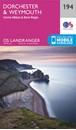 Dorchester, Weymouth, Cerne Abbas & Bere Regis OS Landranger Map 194 (paper)