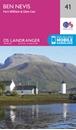 Ben Nevis, Fort William & Glen Coe OS Landranger Map 41 (paper)