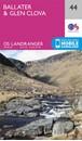 Ballater & Glen Clova OS Landranger Map 44 (paper)
