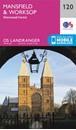 Mansfield, Worksop & Sherwood Forest OS Landranger Map 120 (paper)