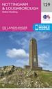 Nottingham, Loughborough & Melton Mowbray OS Landranger Map 129 (paper)