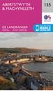 Aberystwyth & Machynlleth OS Landranger Map 135 (paper)