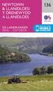 Newtown & Llanidloes OS Landranger Map 136 (paper)