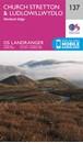 Church Stretton,  Ludlow & Wenlock Edge OS Landranger Map 137 (paper)