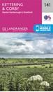 Kettering, Corby, Market Harborough & Stamford OS Landranger Map 141 (paper)